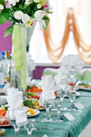 Wedding table setting  photo