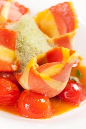 chese: Italian ham with vegetables Stock Photo