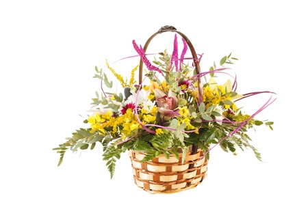 nice flowers in the basket Stock Photo - 15451201