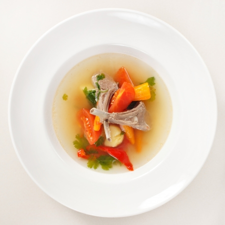 vegetable soup with ribs photo