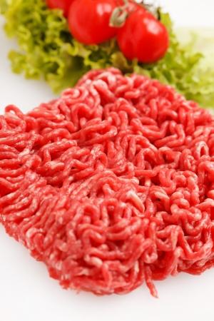 carne picada: Picar la carne Foto de archivo
