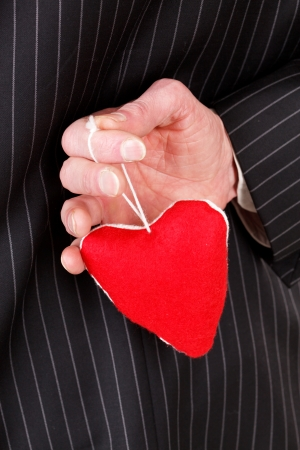 man with red heart Stock Photo - 15932053