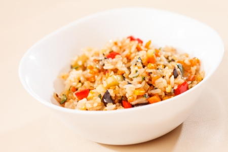 rice with vegetables Stock Photo - 16338459