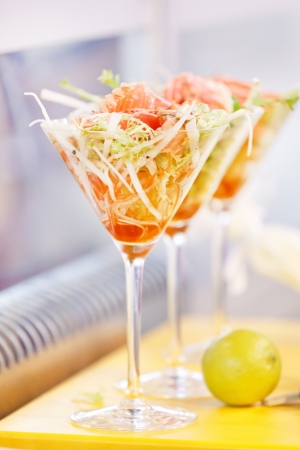 king salmon: salad in the glass