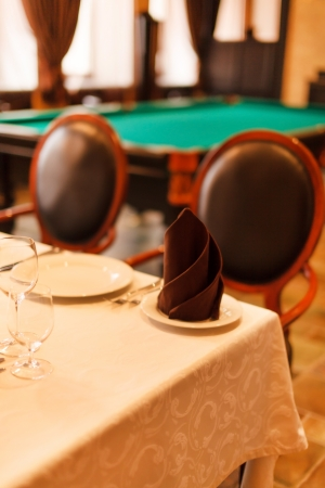 snooker rooms: Pool room Stock Photo