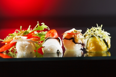 sushi restaurant: tasty sushi Stock Photo
