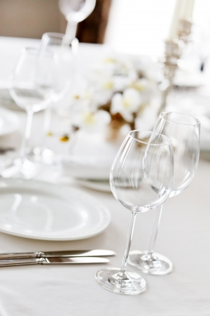 buffet table: restaurant interior  Stock Photo