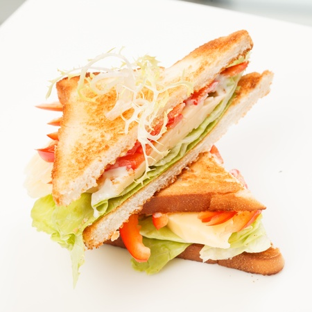 sandwiches with vegetables and cheese Stock Photo - 16629267