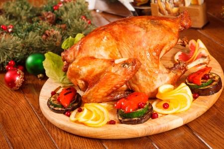 Garnished roasted turkey Stock Photo - 16844478