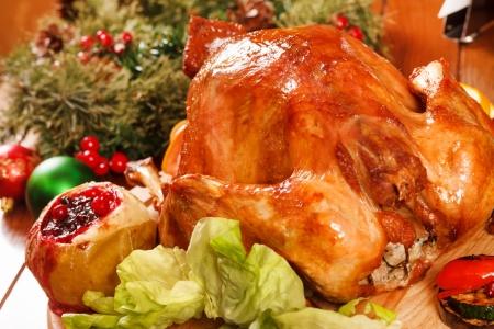 Garnished roasted turkey Stock Photo - 16910203