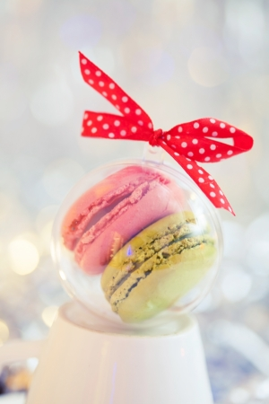 Christmas macaroons photo