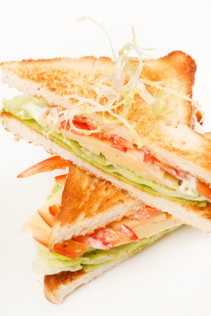 sandwiches with vegetables and cheese Stock Photo - 17023832