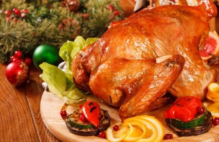 Garnished roasted turkey Stock Photo - 17086517