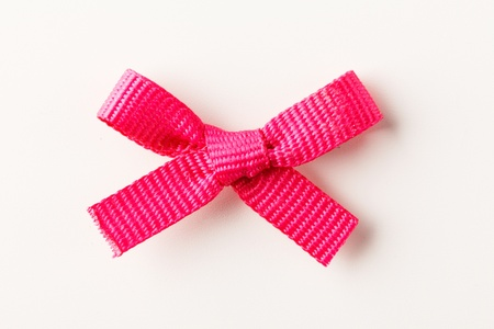 pink  gift bow Stock Photo - 17122397