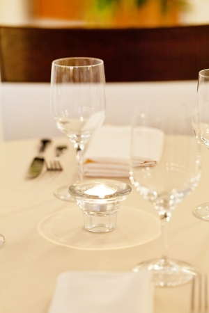 Tables set for meal Stock Photo - 17397131
