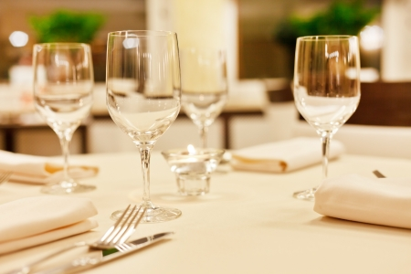 Tables set for meal Stock Photo - 17397188