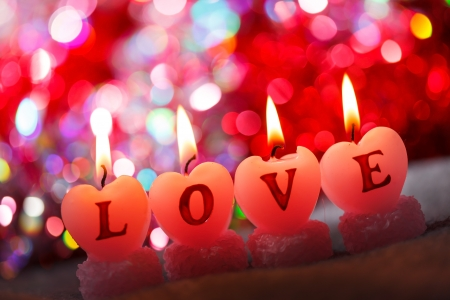 romantic candles photo