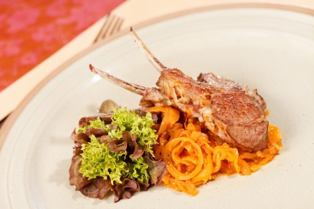 lion and lamb: Lamb lion with vegetables