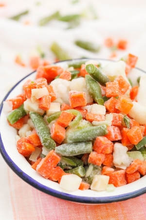 freezed: frozen vegetables Stock Photo