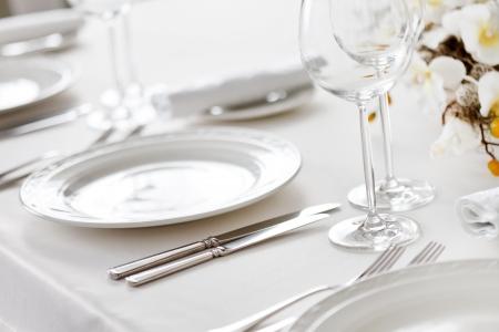 holiday table: restaurant interior  Stock Photo