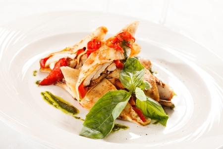 nutriments: crepes con pollo y verduras