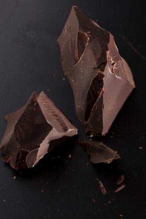 chocolate on black background photo