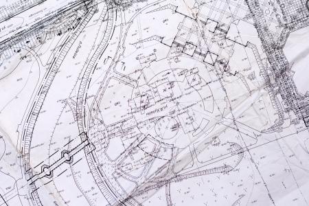 topografia: el plan antiguo de la ciudad Foto de archivo