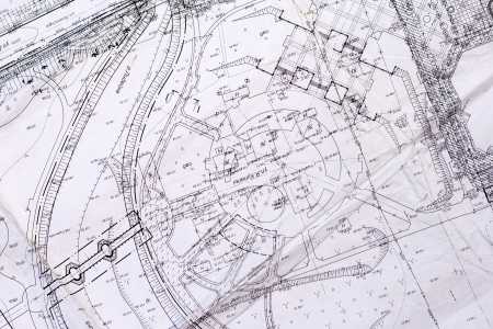 topography: old plan of city