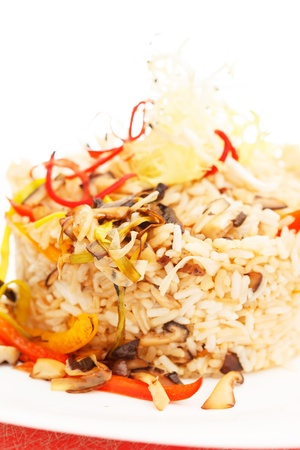 Fried Rice with Vegetables Stock Photo - 19346814