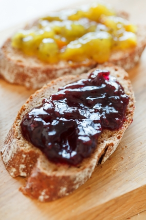 toasts with jam photo