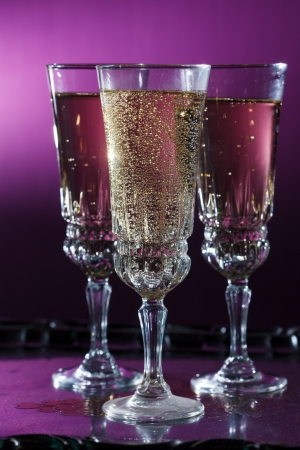 champagne flutes: glasses of champagne