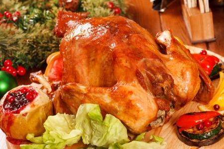 Garnished roasted turkey Stock Photo - 20086361