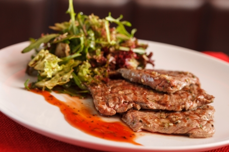steak with salad photo