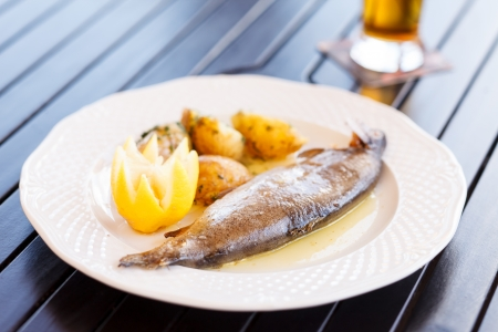 fish with potatoes photo