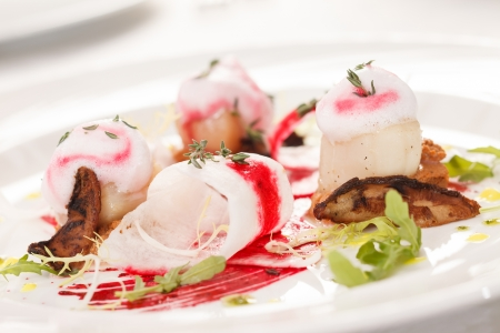 Scallop seafood appetizer  photo