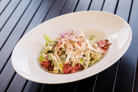 salad with beef photo