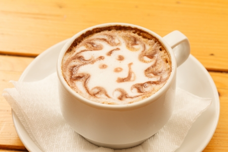 regards: Morning Cup cappuccino with smile