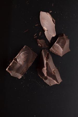 chocolate on black background Stock Photo