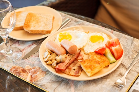continental breakfast: breakfast in the hotel Stock Photo
