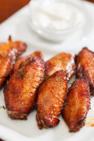 Chicken wings with sauce Stock Photo - 22286666