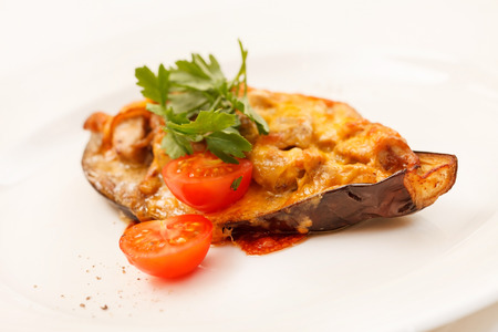 Baked Eggplant with Vegetables photo