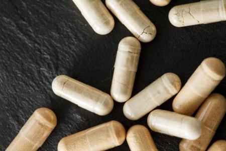 vitamines: Medicinal pills Stock Photo