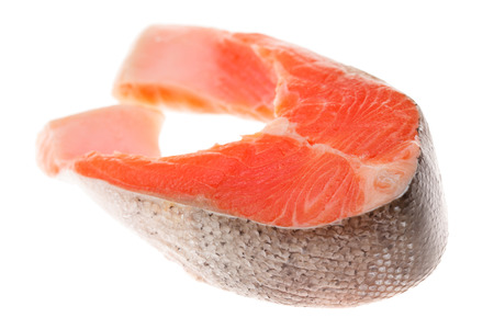 steak cru: steak cru de saumon Banque d'images