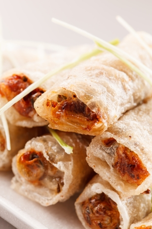 roll food wrappers photo