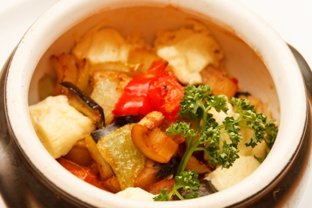 vegetables in the pot
