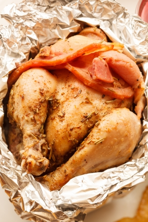 roasted chicken: Roasted Chicken in the foil