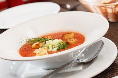 gazpacho: Gazpacho soup Stock Photo