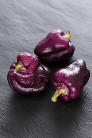 purple peppers Stock Photo