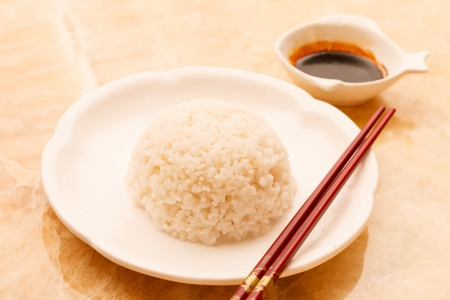 sou: rice with sou sauce Stock Photo
