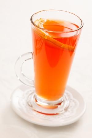 warm drink: warm drink with orange